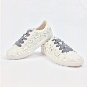 Zara Girls Floral White Sneakers Grey Shoelace